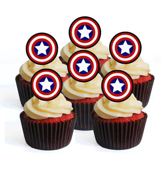 12 Edible Stand Up Premium Wafer Cake Toppers CHRISTENING BABY BOY BLUE MIX