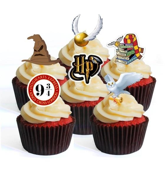 Hogwarts Comestible Oblea /& Glaseado Personalizado Cake Toppers Cumpleaños De Harry Potter