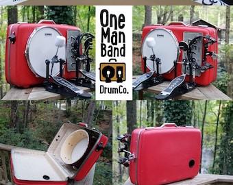 OneManBandDrumCo. Vintage Suitcase Drums handcrafted in the Smokies...
