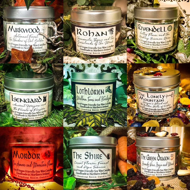 The Tolkien Collection 9 Pure Soy Wax Candles-The Shire image 0