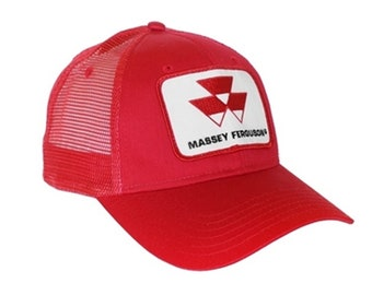 Massey Ferguson Tractor Red Mesh Hat Cap Gift fce4bb9fb187