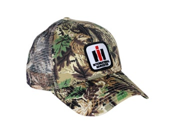 da4aaab4 International Harvester Logo Camouflage Hat With Mesh Back Cap Gift IH