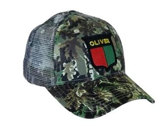 d24cc836 Oliver Tractor Cap Vintage Split Shield Logo Camo Hat Mesh Back Accents Gift
