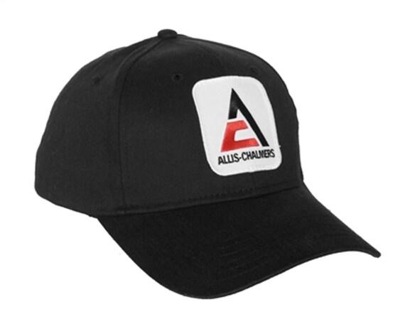 Cap Gift Fits Most Allis Chalmers Tractor 6 Panel Black Hat w// sandwich brim