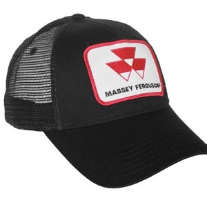 Massey Ferguson Tractor 6 Panel Red Hat Cap Gift MF Fits Most