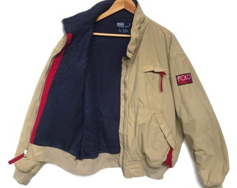 ab3b3516d Vintage 90s bomber jacket polo ralph lauren hi-tech jumper pullover