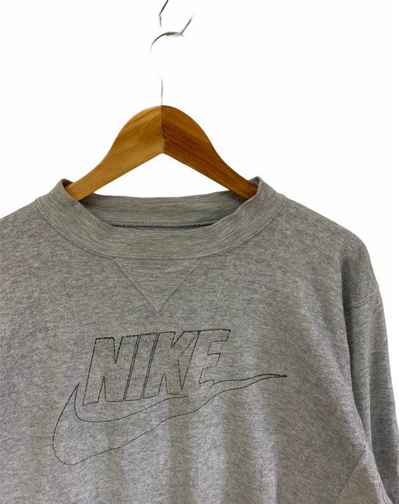 vintage 90s nike sweatshirt big logo nike swoosh j