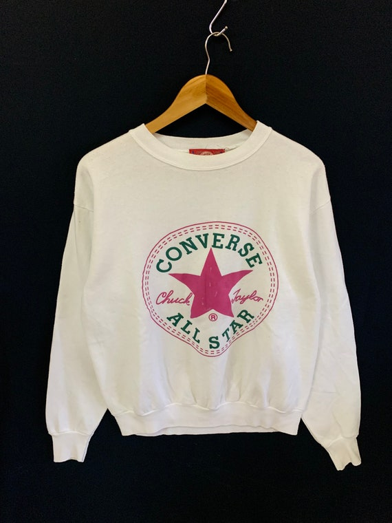 vintage 90s converse made in usa big logo jumper p