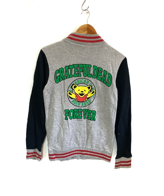 grateful dead varsity jacket sweater button big lo