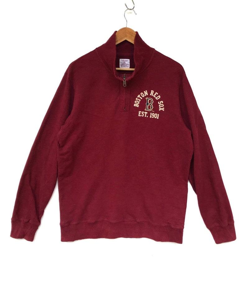 best service 81890 f7d9a Boston red sox sweatshirt baseball jumper pullover red xlarge size americab  baseball team major league baseball