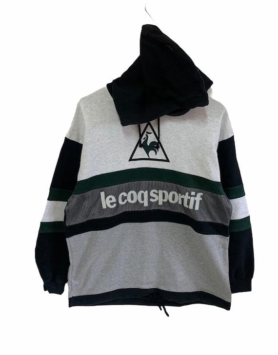 vintage 90s le coq sportif sweatshirt hoodie big l