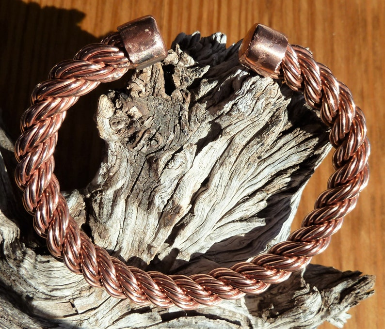 Twisted Wire Cuff Recycled Copper