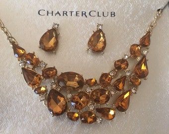 8f681bc99 Charter club necklace earring set in box