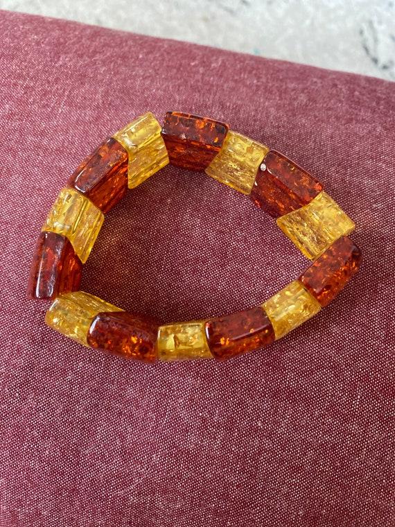 Amber and honey bracelet