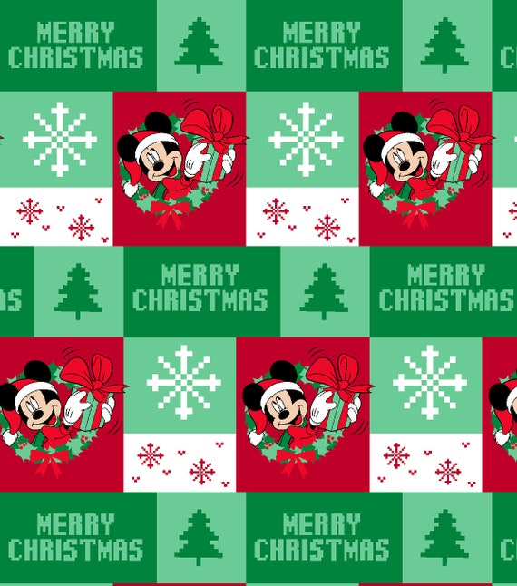 Disney Christmas Fabric By The Yard.Ugly Sweater Mickey Mouse Disney Christmas Fabric Mickey Is Peeking Though Wreath In Ugly Sweater Print Fat Quarters Or By The Yard