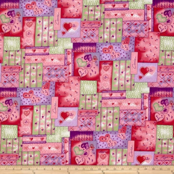 Patchwork Breast Cancer Medical Print Fabric Says Cure Hope Love Xoxo Fighting Breast Cancer Quilt Fabric Fat Quarters Or By The Yar
