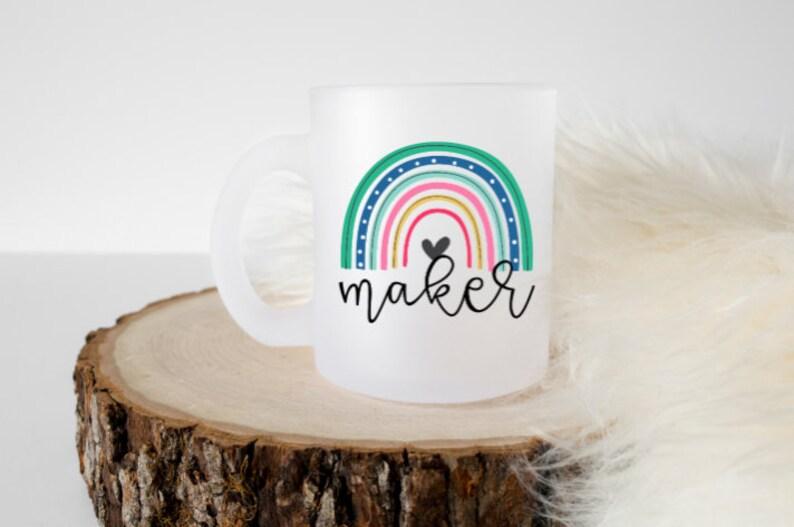 Bright Rainbow Maker Mug // Crochet Mug / Gifts for Makers / image 0