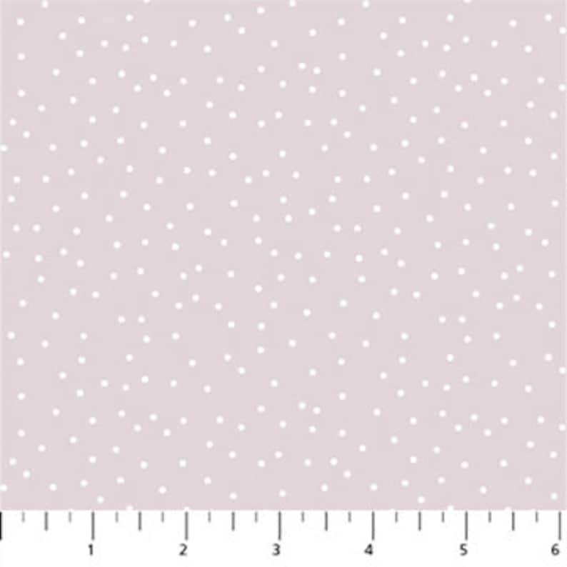 By Gahzal Razavi For Figo Fabrics Serenity Basics Sold by the Yard and Cut Continuous Lilac Dots In Stock And Ships Today