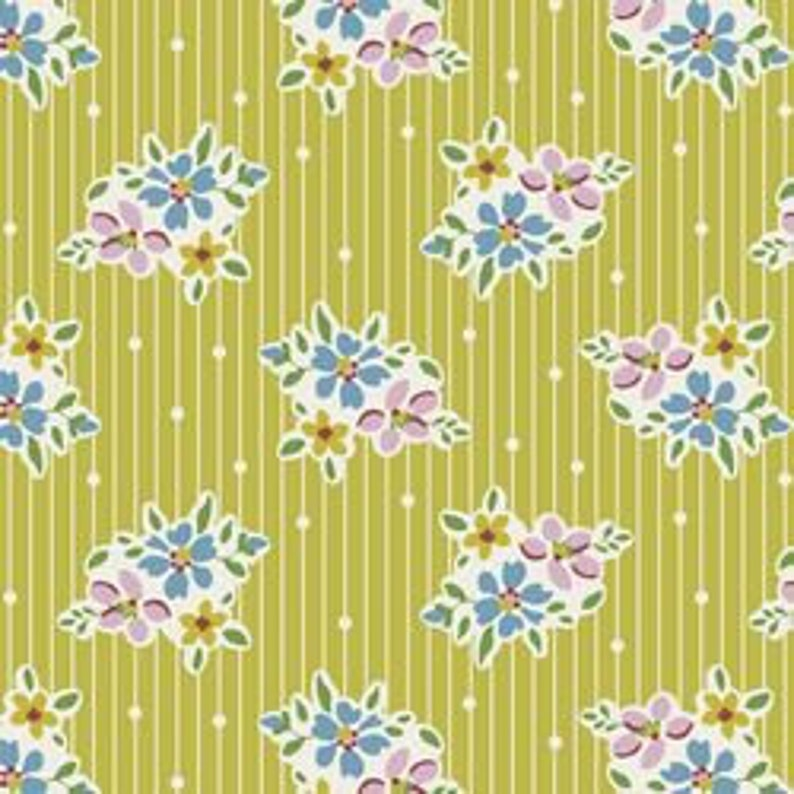 Tilda Apple Butter Nancy Yellow Fabric Sold by the Yard and Cut Continuous