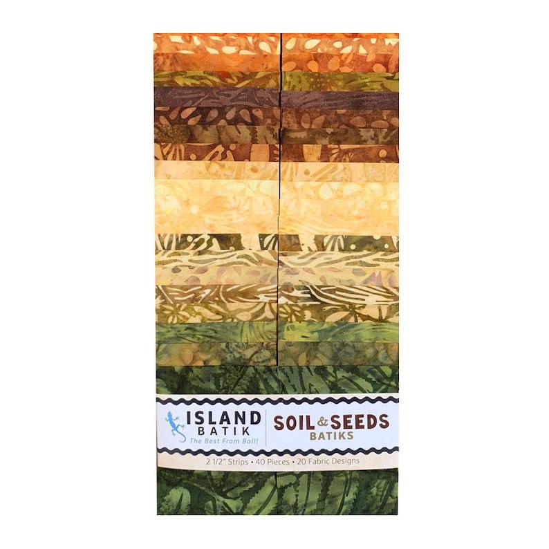Soil and Seeds Batiks Island Batik 2.5 Stripe Bundle 40 pieces
