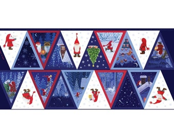 """Keep Believing - 18"""" Bunting Panel - By Eva Melhuish For Lewis And Irene - Sold By The Panel - In Stock, Ships Today"""