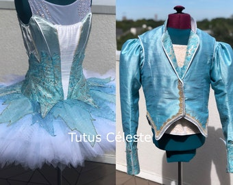 041c3b4cd1c4a Snow Queen and King Professional Ballet Tutu and Tunic costume for  Nutcracker YAGP