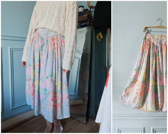 80's / early 90's Floral René Derhy Skirt