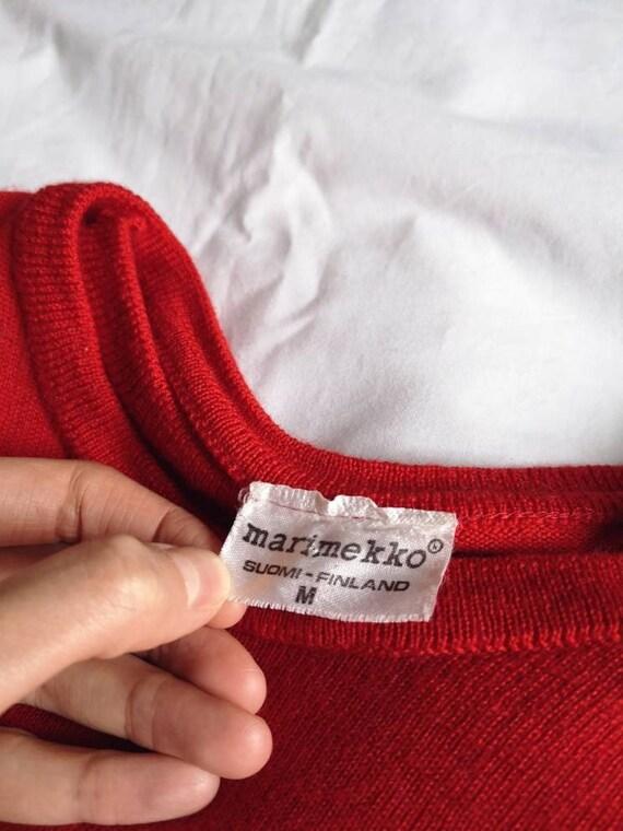 Vintage Red Marimekko Wool Tunic Knit - image 4
