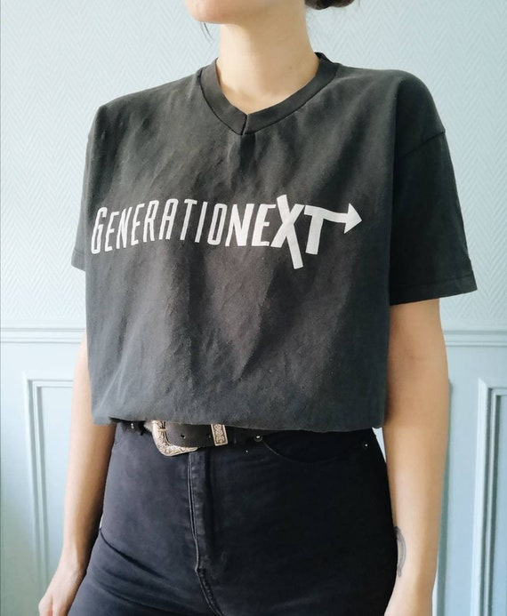 Vintage 90s New with Tags Pepsi Generation Next Grey and Black Oversized T Shirt Size XXL