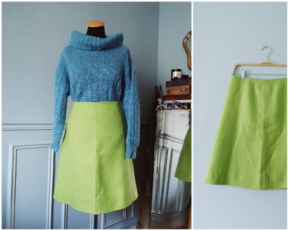 70's Lime Green Skirt