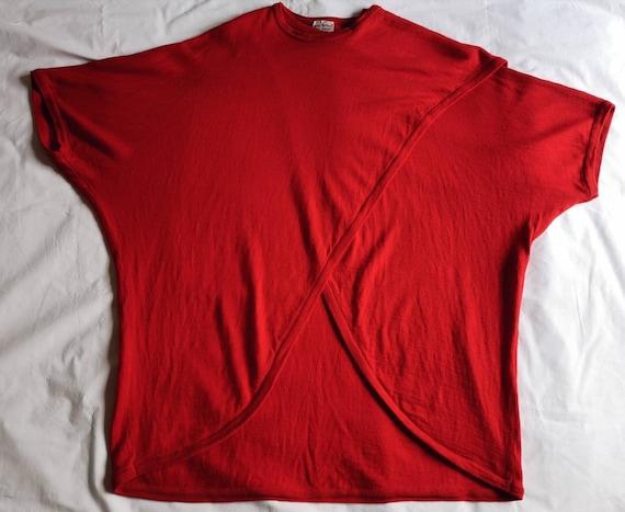 Vintage Red Marimekko Wool Tunic Knit - image 3