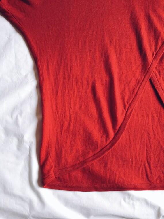Vintage Red Marimekko Wool Tunic Knit - image 5