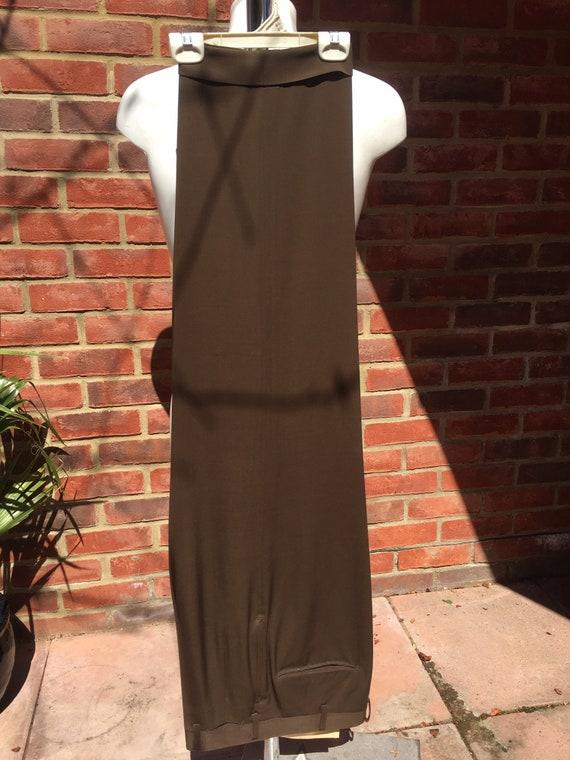 Mens Vintage 50s Dark Brown Gabardine suit pants
