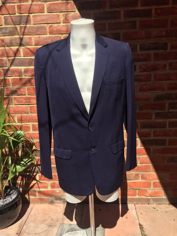 Mens Vintage 50s Dark blue gabardine suit