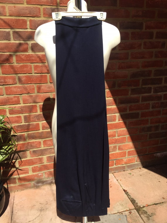Mens Vintage 50s Dark Blue Gabardine suit pants