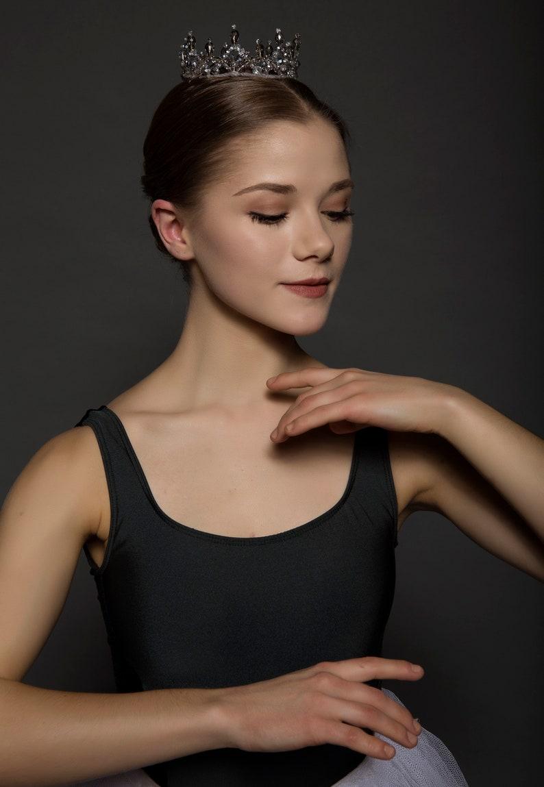 Ballet Headpiece Tiara Grey Silver Tiara
