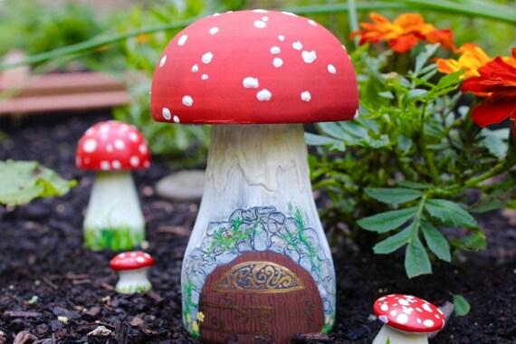 Amanita Muscaria Wooden Mushroom Fairy House Etsy