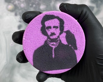 Edgar Allan Poe Bath Bomb! - Scented Macabre Writer Bath Bomb; Spooky Eerie Relaxing Fun for all ages!