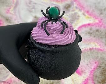 Cauldron Bath Bomb - Spooky Spider Halloween Bubble Bath Fizzy Fun for Kids and Adults!
