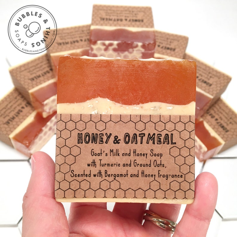 Honey Goat's Milk soap with Turmeric and Ground Oatmeal  image 0
