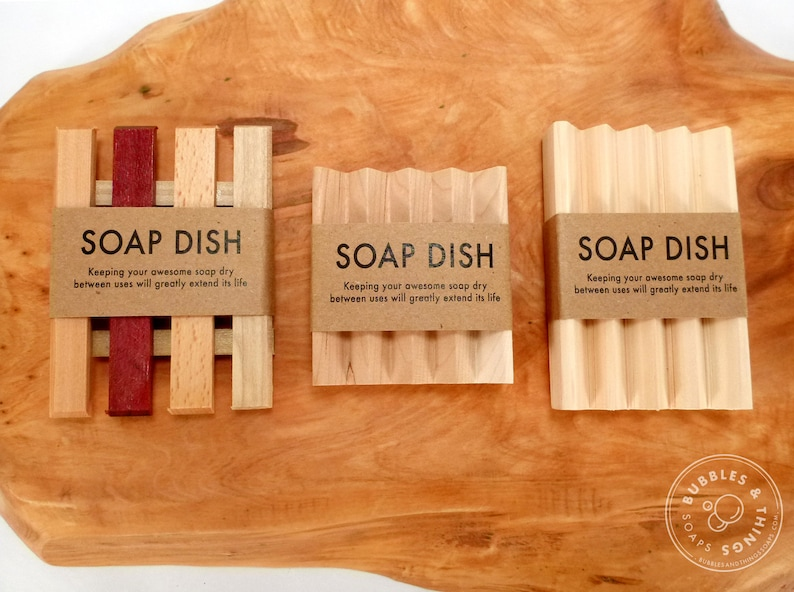 Eco Friendly Wooden Soap Dish  Soap Saver  Soap Lift image 0