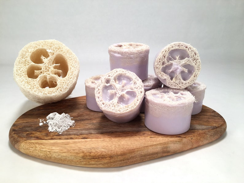 Lavender Loofah Body Scrub Soap  Goat's Milk Loofah image 0