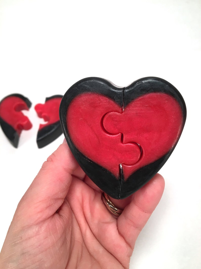 Pull-Apart Puzzle Heart Soap  Aloe Vera Shea Butter and image 0