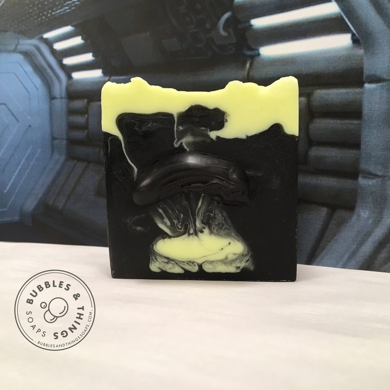 Alien Soap  Honey and Glycerin Soap with Activated Charcoal image 0