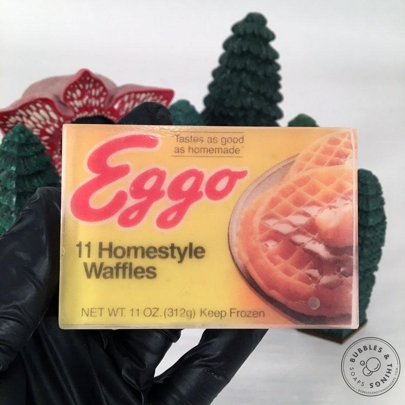Stranger Things Eggo Waffle Soap  Vintage Style Glycerin image 0