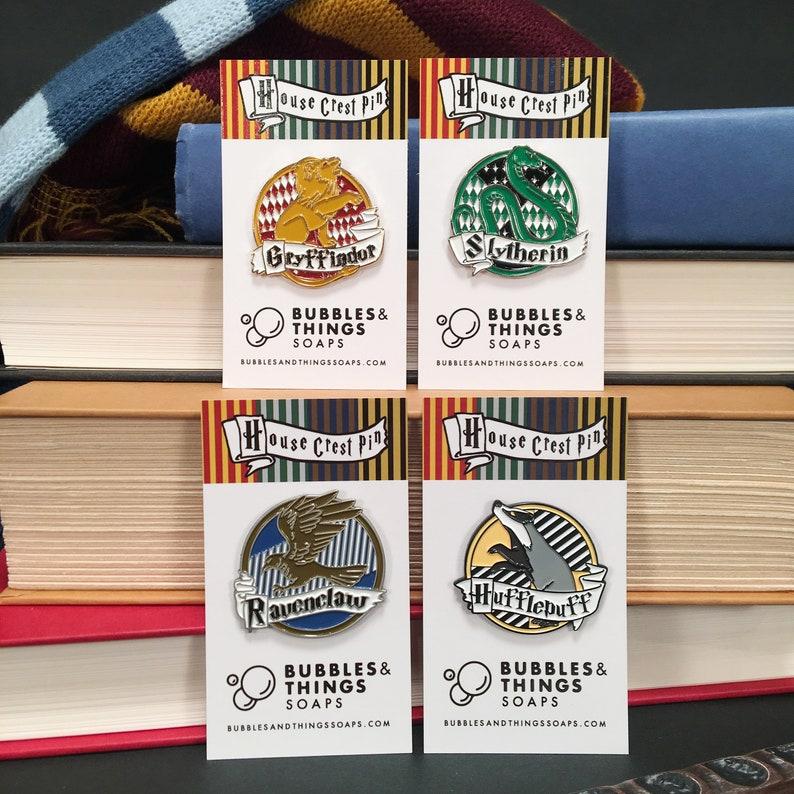 Wizard House Crest Enamel Pins image 0
