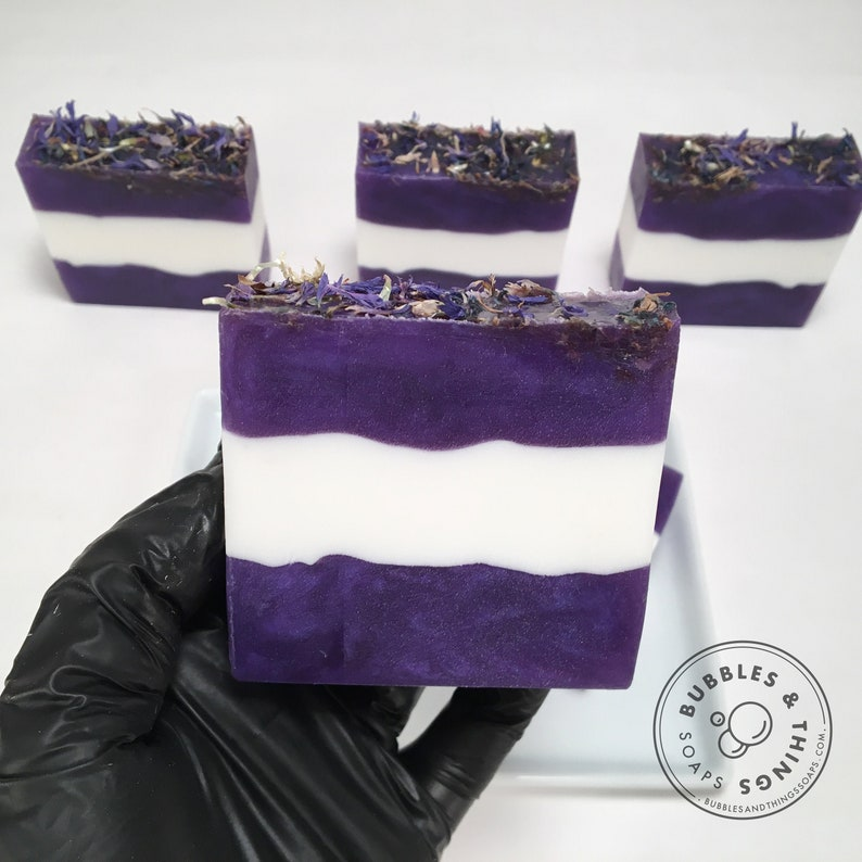 Cornflower Soap  Shea Butter and Glycerin Soap Scented in image 0