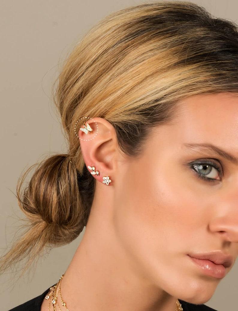 06de9322c6b Conch earring butterfly earrings cuff earrings Fake   Etsy