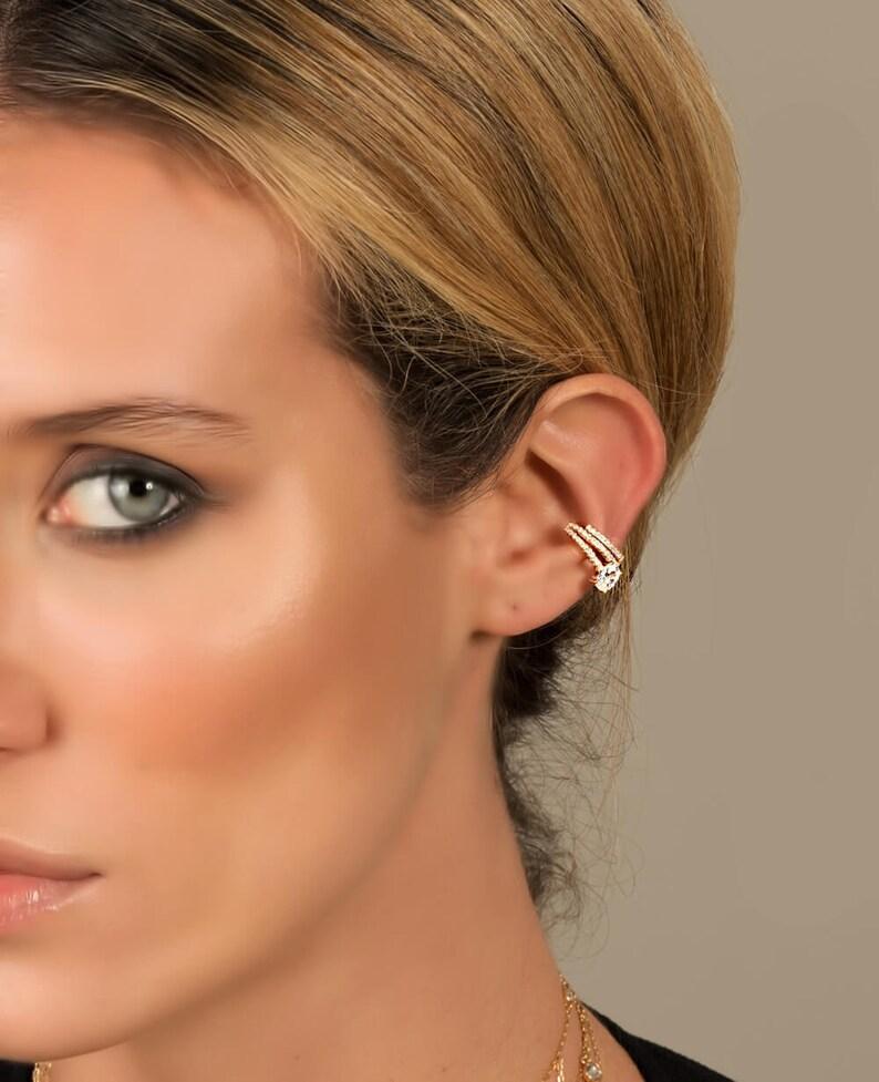 cuff No Piercing Ear Cuff Ear cuff cuff earrings Gold ear cuff Ear cuffs Fake Piercing Ear Cuff ear cuff no piercing Fake piercing