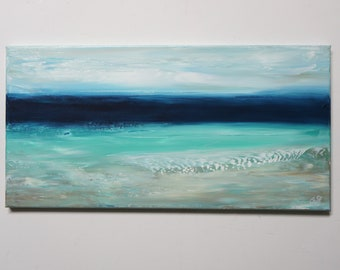 The Sea, Acrylic Painting, Light Structure, Maritime Art on Canvas, Seascape Abstract Hand Painted, Unique, Original Elsa White Bekolli